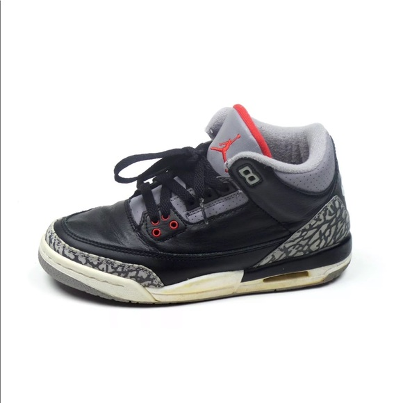 new concept 841f5 cefba Nike Air Jordan 3 III Retro Black Cement 4.5Y